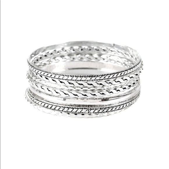 Rattle and Roll - Silver bangle bracelets